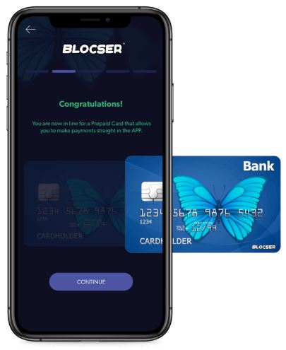 Blocser prepaid card